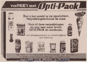 Advertentie uit 1982 OPTI-PACK
